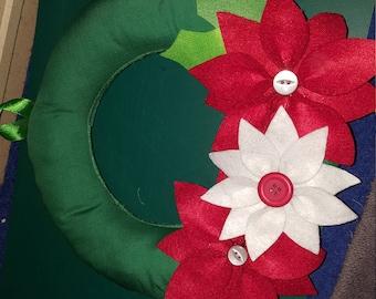 Small Christmas Poinsettia Wreath