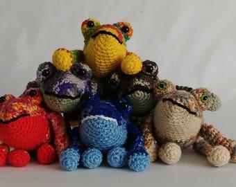 Amigurumi Frog, Stuffed Crochet Frog