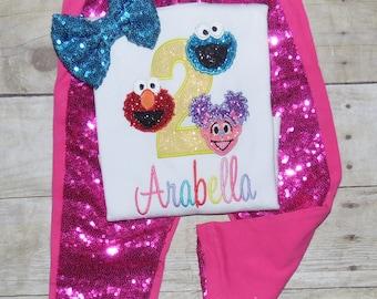 Sesame street birthday outfit! Sesame street birthday shirt, Sesame street birthday dress tutu, Abbey birthday outfit, Elmo birthday outfit