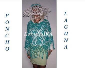 hand crocheted lace poncho