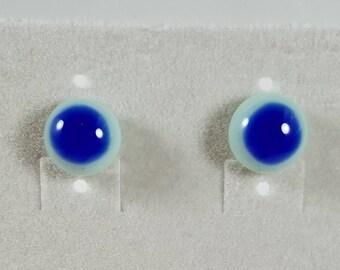 Handmade fused glass earrings.