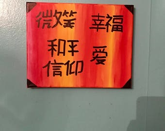 Chinese word painting
