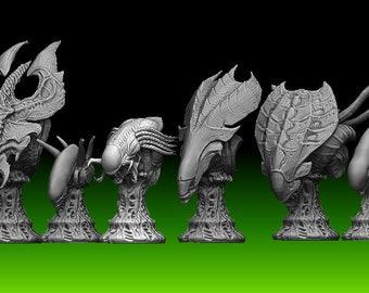 Alien chess set