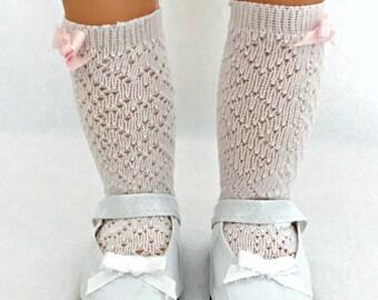 White Doll Socks - 15-18 inch Dolls - Lacey Doll Socks - Socks for Dolls - Girls Toys - Toy for Girls - Tall Doll Socks - Gifts for Girls