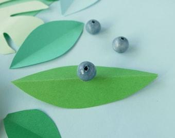 Blueberry pin - Something blue - food pin - Botanical jewelry - fruit jewelry - BFF gift idea - forest jewelry - berry jewelry, vegan pin