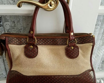 Vintage Brahmin Handbag, Retro Purse, Brahmin Pocketbook, Gift for Women, Ladies Pocketbook, Leather Handbag, Gift Giving