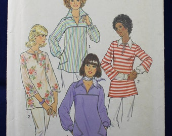 1970's Sewing Pattern for a Top in Size 8-10 - Simplicity 7446