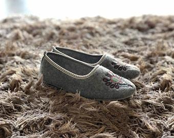 Handmade Felted Slippers | Folk-Inspired Shoes for Women