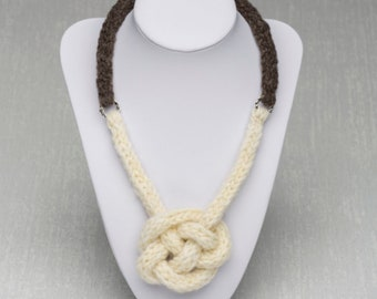 Celtic Harmony Necklace with Celtic Knot - Pure Wool Jewellery From Our Coloured Ryeland Sheep