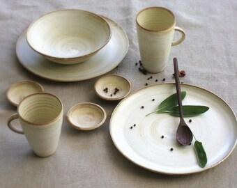 White Dinnerware Ceramic Dinnerware Wedding Gifts For Couple Couples Gift Set Pottery & Dinnerware Sets | Etsy