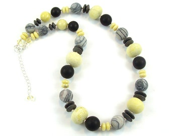 Lemon Jasper Gemstone Necklace