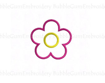 Daisy Flower Applique Embroidery Design Instant Download