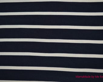 Viscose striped Navy Blue and white