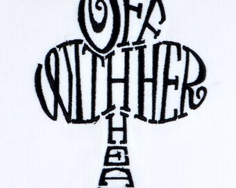 Off with her head club 5x7 machine embroidery design