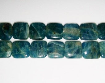 SALE! Kyanite beads square beads 10mm square beads blue stone beads semiprecious stone semiprecious beads kyanite blue beads