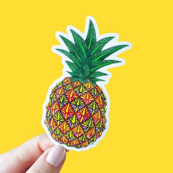 Vinyl pineapple sticker pattern waterproof sticker