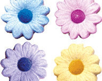 50 Edible Daisies Flower Sugar Decorations        Simply Darling