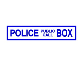 Police Box Whovian Doctor Who inspired Laptop Decal Macbook Sticker 0082
