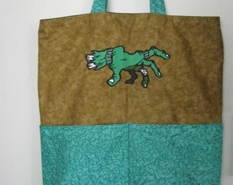 Zombie Hand Spooky Halloween Tote or TRICK or TREAT BAG