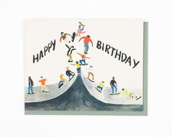 Skater Birthday Card