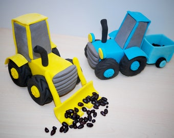 Tractor Cake Topper, tractor cake, edible 3D, TRACTOR FARM, cake decoration