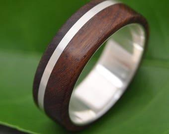 Solsticio Nacascolo Wood Ring - ecofriendly wood wedding band, mens wedding band, wood wedding ring, wooden wedding ring,