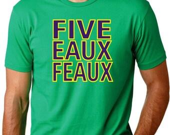 504 Mardi Gras Five Eaux Feaux Mens Shirt