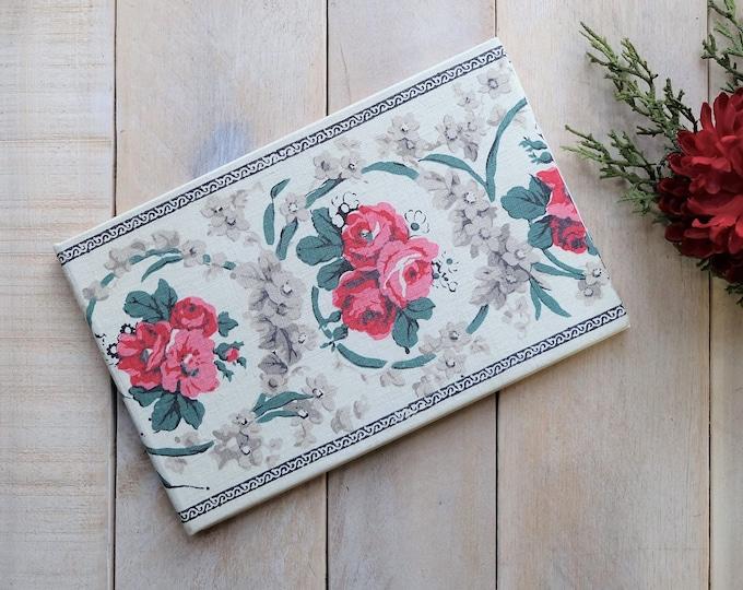 Antique Floral Linen Personalized Guest Book