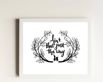 Just the Way Art Print // Over the Garden Wall