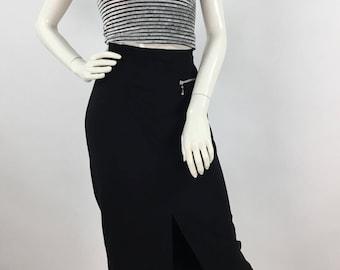 Vintage 1990s black skirt