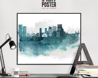 Oslo poster, Oslo wall art print, Oslo skyline art, home decor, art gift, city prints, iPrintPoster