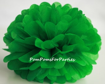 1 High Quality KELLY GREEN Tissue Pom Pom - Choose any of 50 colours - Hanging  Paper flower - Tissue paper balls - Tissue paper pom poms