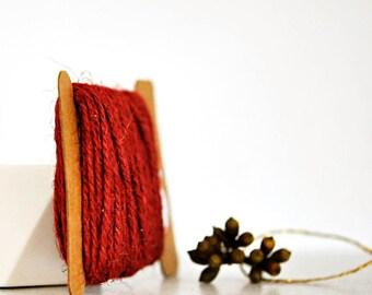 Chunky Red Twine {10.0m}   Chunky Twine   Red Twine   Rustic Red Twine   Red Jute Twine