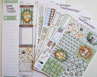 Woodland Animals Kit!  Available for Erin Condren Life Planner or MAMBI/Happy Planner