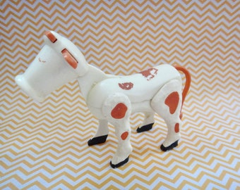 Vintage Fisher Price Little People Cow Farm Animal