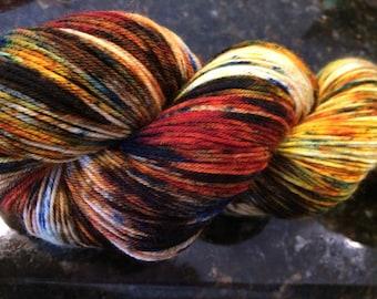 """SW BFL 150g """"Tiger Eye"""" hand dyed Fingering/sock"""