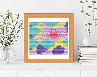 PATTERN: Crab (3)  cross stitch pattern, Modern Cross Stitch Pattern, Cute Cross Stitch Pattern, Instant Download PDF