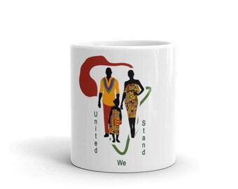 Mug, Map of Africa, Kente, Wedding favors