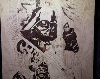 Woodburning - Pyrography - Star Wars
