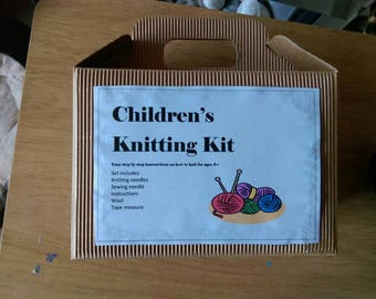 Children's knitting kit
