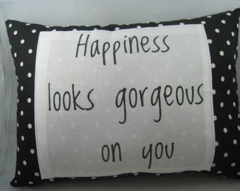 Word Pillows - Gifts for Woman - Polka Dot Pillow - Inspired Gifts - Throw Pillows - Free Shipping