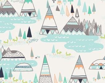 INDIAN SUMMER Woodland Pine, Sarah Watson, Art Gallery Fabrics, By the Yard, Woodland Baby Quilt Fabric, Boho Nursery Decor, Cotton Fabric