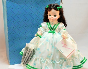 Madame Alexander Scarlett Doll with Original Box and hang tag Outfit Parasol
