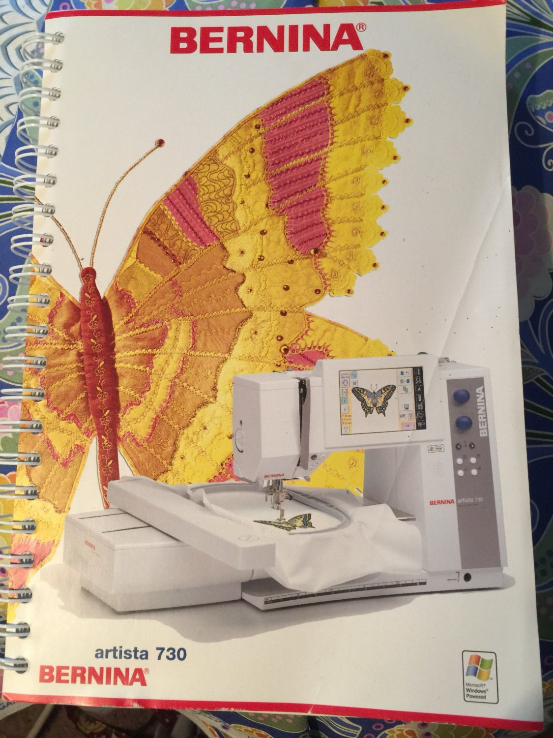 Bernina 730 Sewing and Embroidery Manual with Quick Reference Cards ...