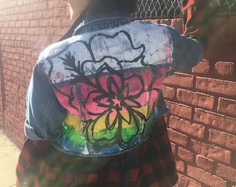 Glitterati Blooms Cropped Vintage Jacket