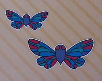 Colorful Cicada Sticker