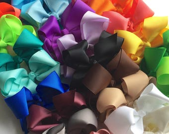 Bows, Hair bows for girls, PICK 5, girls bows, 4.5 inch bow, big hair bows, toddler hair bows, hair clips for girls,