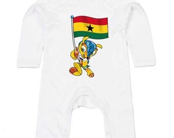 Ghana World Cup Mascot Body Suit Humour Gift Present Baby Shower Birthday Novelty Onesie Memorabilia Commemorative Brazil 2014