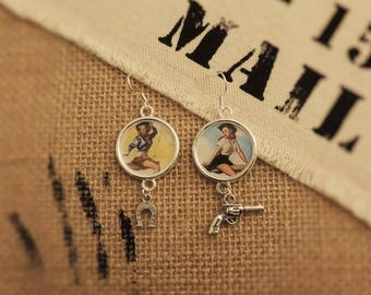 Pin-up Cowgirl earrings
