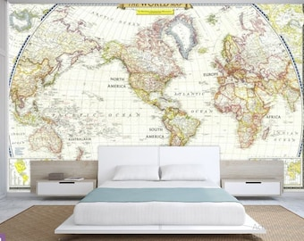 World map wall mural old map wallpaper vintage old map world map wall decal wallpaper world map old map wall decal antique world gumiabroncs Images